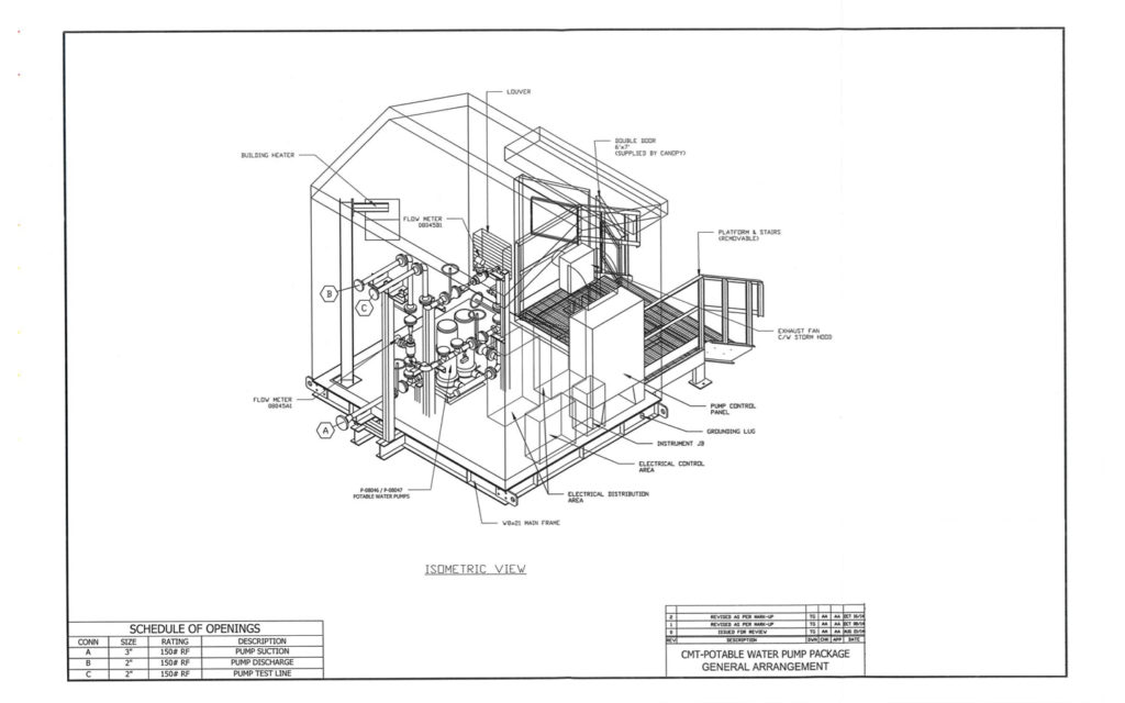 water pump house drawing